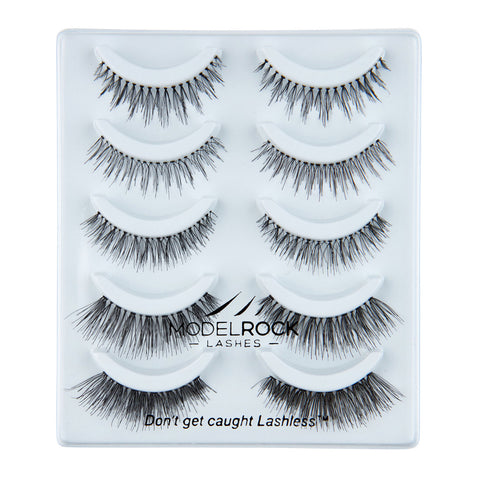 MODELROCK Lashes Say I Do - 5 Pair Lash Pack Collection - Mixed Styles for Bridal