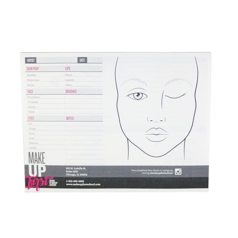 Make Up First Face Chart Pad