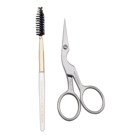 Tweezerman Brow Shaping Scissors and Brush Set