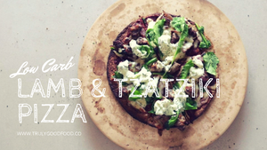 Low Carb Lamb & Tzatziki Pizza