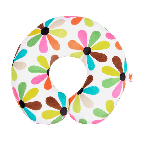 Multi flo pattern neck pillow for kids exclusively designed for Target French Bull Jackie Shapiro