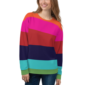 Rainbow Stripe  Sweatshirt