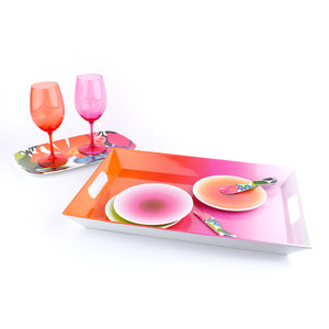 Ombre Appetizer Plate Set