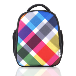 Multi Plaid Sling Lunch Bag