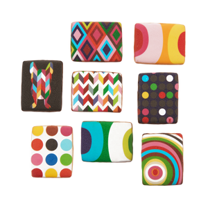 Rectangular Pattern Cookies - Set of 8
