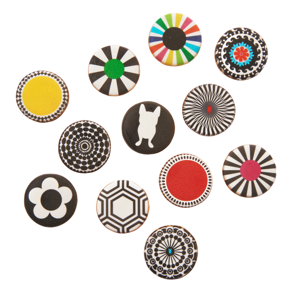 Round Pattern Cookies - Set of 12