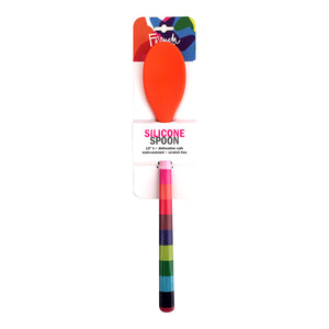 Jelly Bean Stripe Silicone Spoon