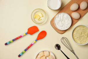 Jelly Bean Stripe Silicone Spatula