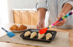 Jelly Bean Stripe Silicone Utensil 3-Piece Set