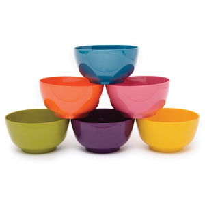 Bowl - Solid Bowl Assorted Set Of 6