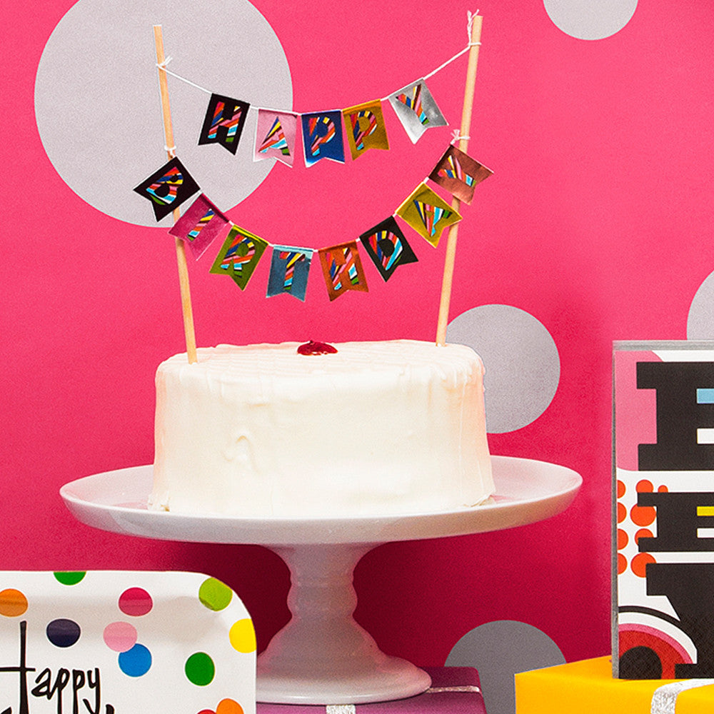 Birthday Cake Banner Topper