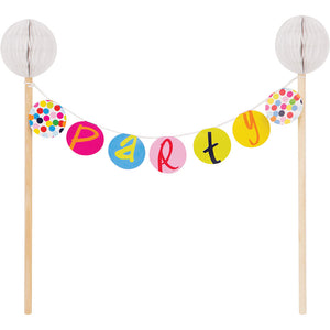 Cake Banner Topper - Birthday Dots Cake Banner Topper