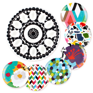 Foli Egg Platter and Appetizer Plates Bundle