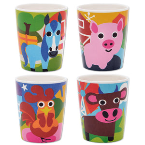 Juice Cup Set - Farm Kids Juice Cup Set