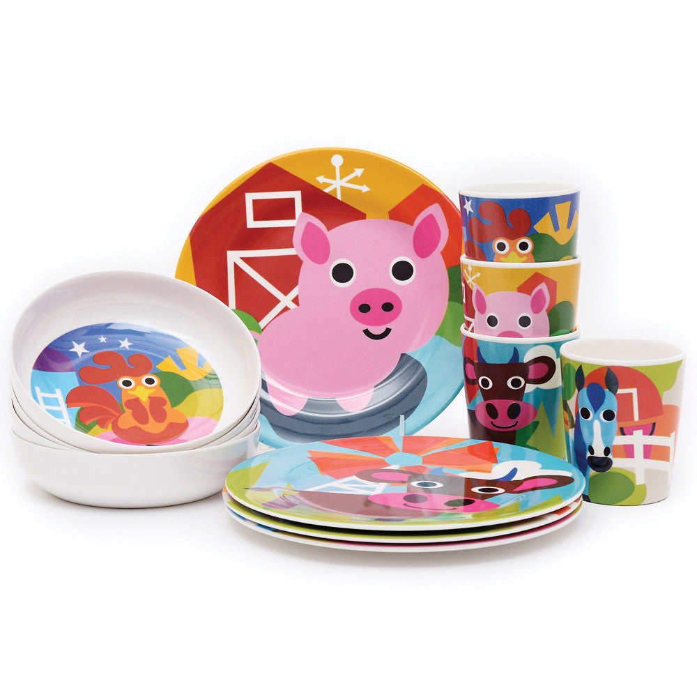 Kids Plate Set - Farm Kids Plate Set ...  sc 1 st  French Bull & Farm Kids Plate Set - French Bull