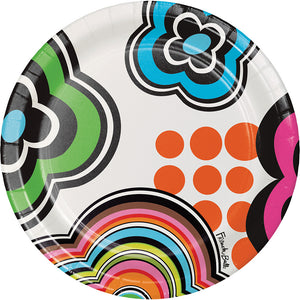 Paper Snack Plate - Mod Birthday Round Paper Snack Plate