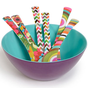 Salad Servers - Ziggy White Salad Server