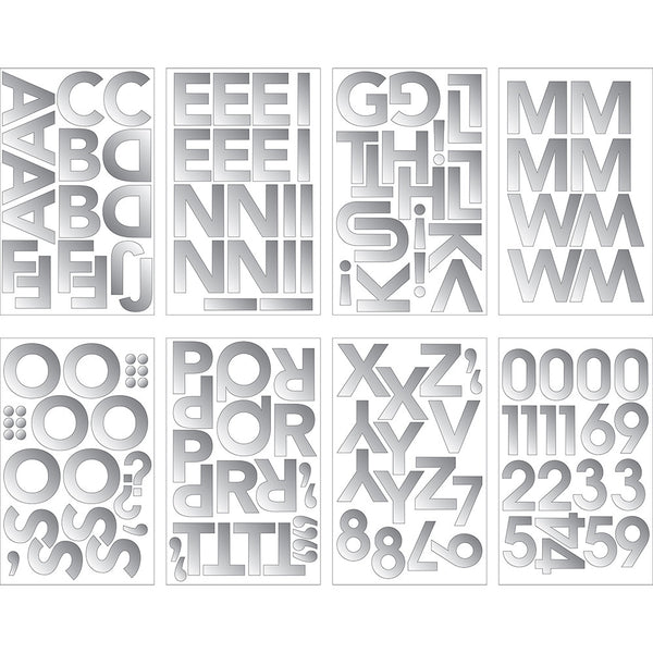 Silver Foil Stickers - Multi-Pattern Silver Foil Stickers