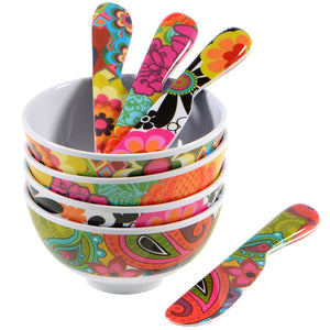 Spreader Set - Floral Spreader Set - 4 Assorted