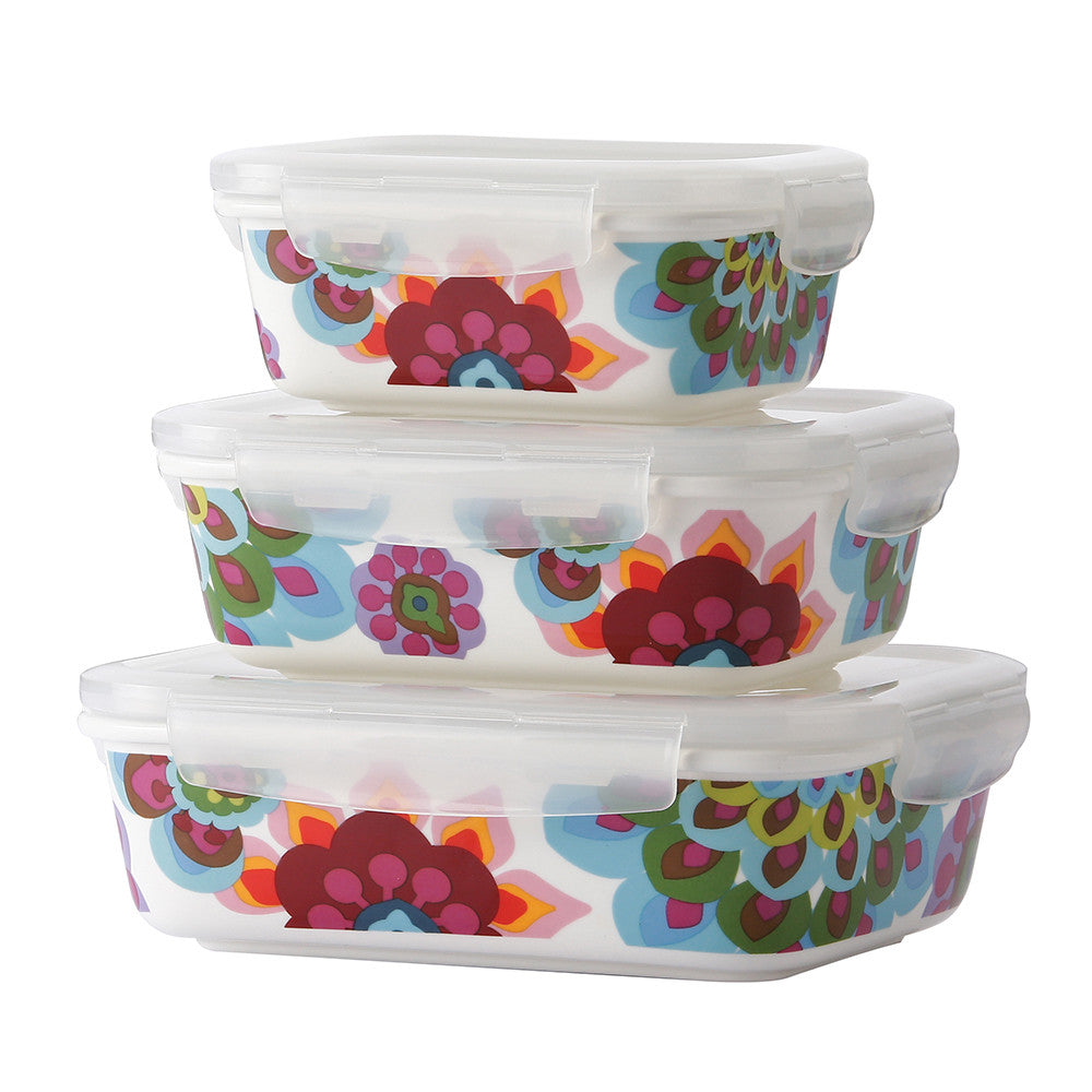 Gala Porcelain Food Storage Container Set French Bull