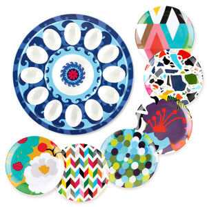 Sus Egg Platter and Appetizer Plates Bundle