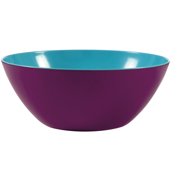 Two Tone Salad Bowl - Grape/Turquoise 2 Tone Large Bowl