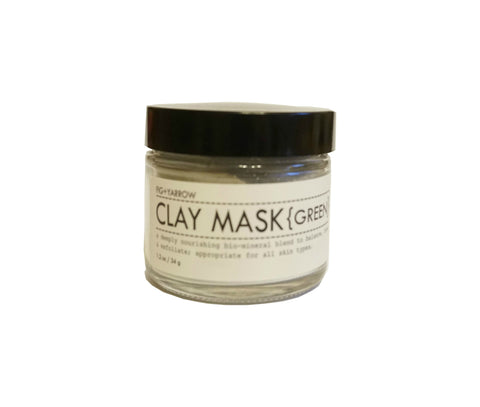 FIG+YARROW Clay Mask {Green} 34g|FIG+YARROW 礦物泥面膜 {綠色} 34g