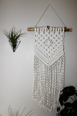 "Chevron (10"" x 29"") Medium Macrame Wall Hanging"