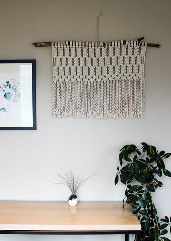 "Lattice (27"" x 22"") Large Macrame Wall Hanging"