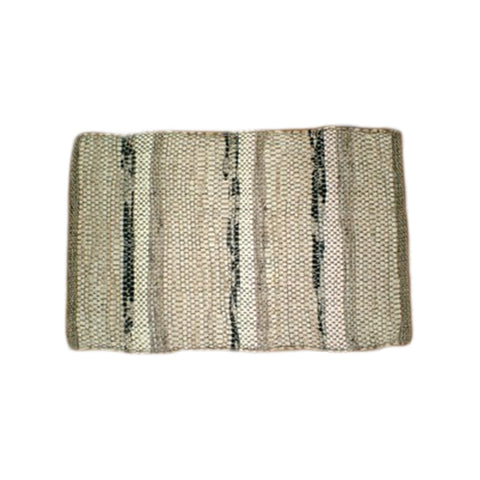 27'' x 40'' Hand Woven Door Mat, Black, Beige, Grey (#40)