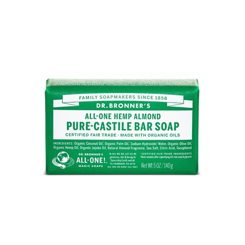 Almond Pure Castile Bar Soap, 140g