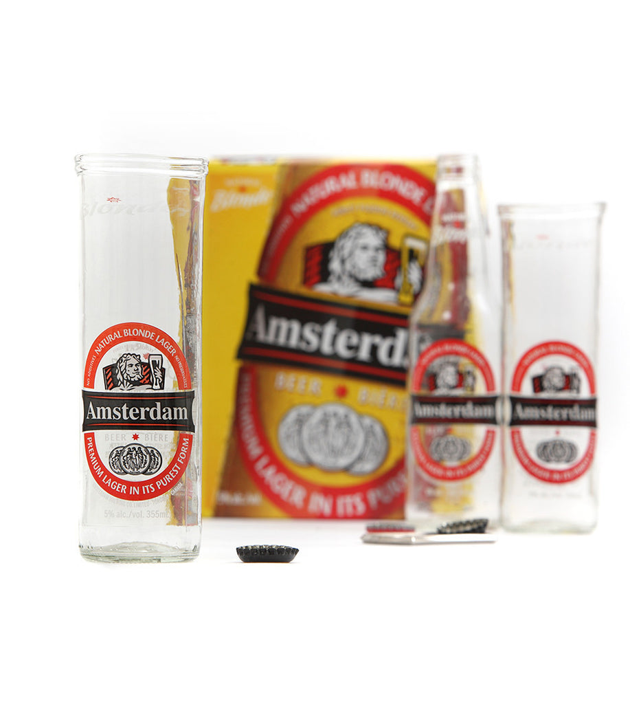 Amsterdam Blonde, Upcycled Beer Glass