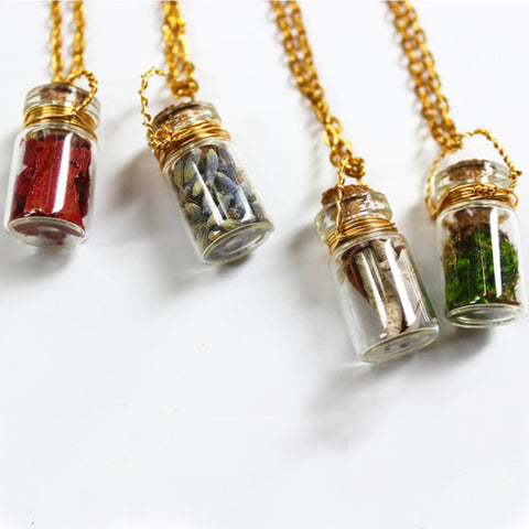 Apothecary Bottle Neckace, Small