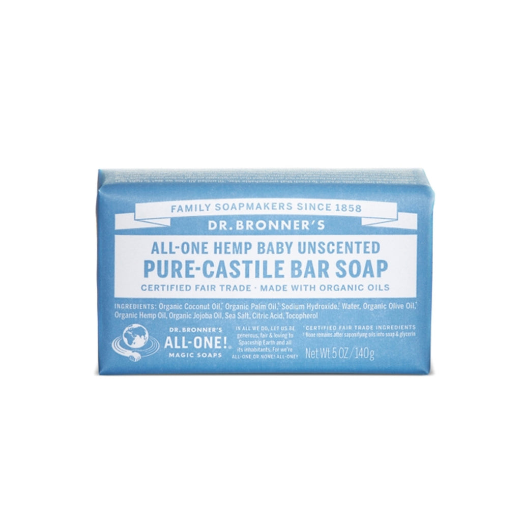 Baby Unscented Pure Castile Bar Soap, 140g