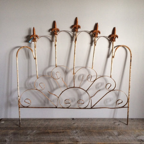 Antique Cast Iron Head Board, Twin