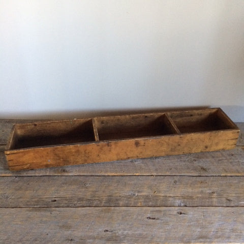 Antique pine divided box