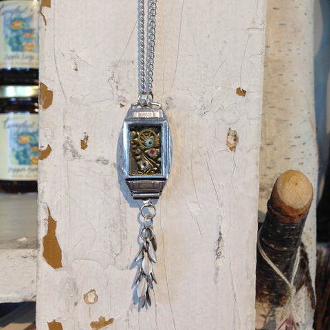Resin Watch Case Necklace