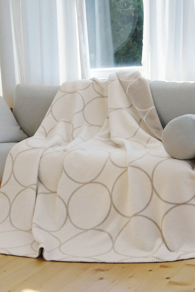 Bamboo throw RINGS offwhite 150x200cm