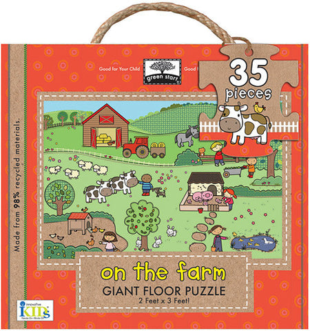 Green Start Giant Floor Puzzle, On the Farm