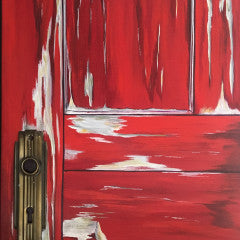 "Red Door 'Door Series' 12"" x 16"""