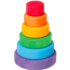 Conical Tower, Small, Multi-Coloured