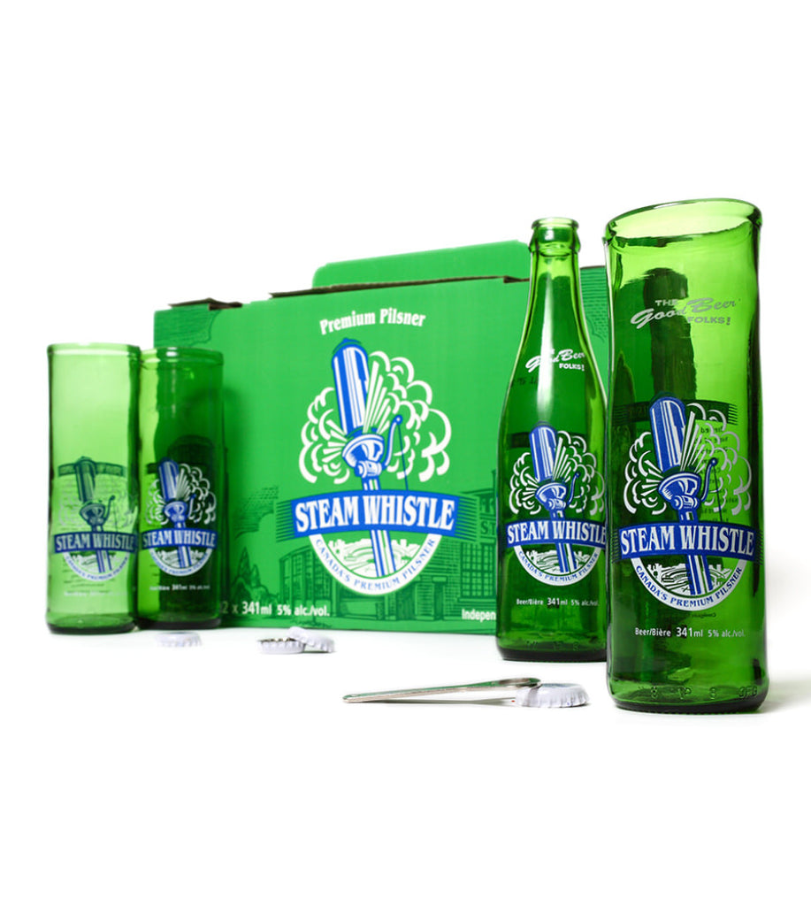 Steam Whistle, Upcycled Beer Glass