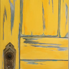 "Come on In (Yellow Door) 10"" x 20"""