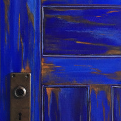 """Midnight"" (Blue Door) 12"" x 24"""