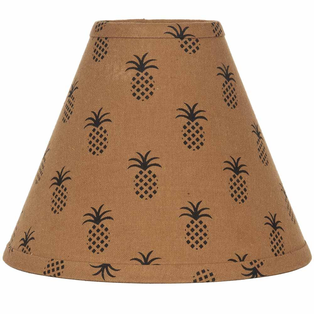 "Mocha - Black Pineapple Town 10"" Lampshade - Interiors by Elizabeth"
