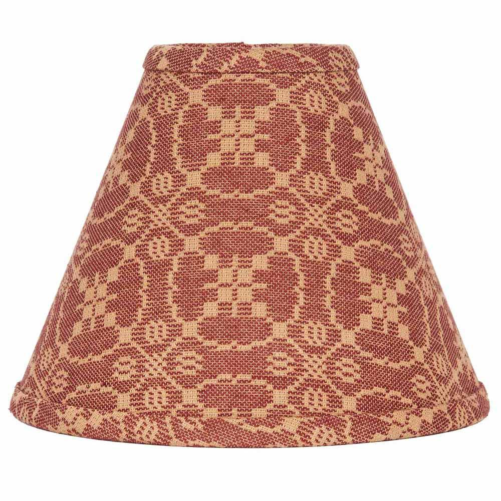 "Barn Red-Tan Marshfield Jacquard 10"" Lampshade - Interiors by Elizabeth"