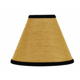 "Black - Wheat Burlap Stripe 10"" Lampshade - Interiors by Elizabeth"