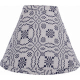 "Loverƒ??s Knot Jacquard Lampshade Cream - Indigo 12"" Regular Clip - Interiors by Elizabeth"