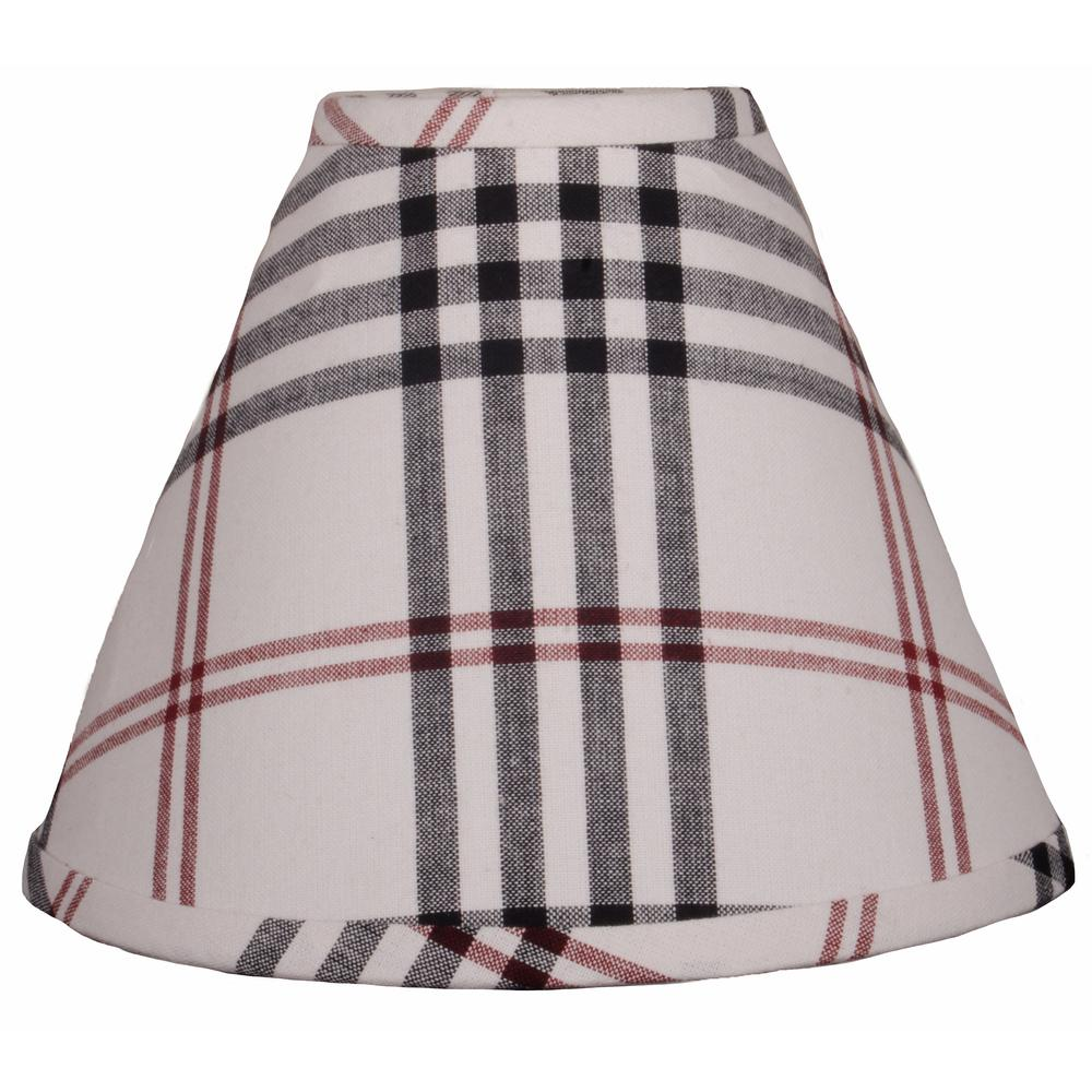 "Chesterfield Check 12"" Regular Clip Cream - Black - Red - Interiors by Elizabeth"