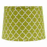 "Quatrefoil Lime Green-Grey-White 14"" Washer Drum Shade - Interiors by Elizabeth"